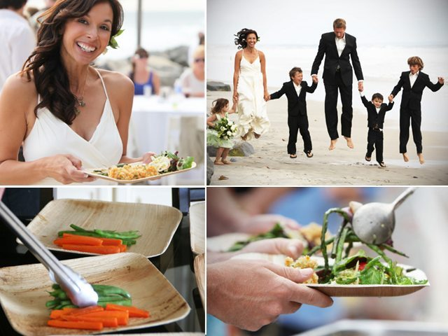 San Diego Wedding Catering company Eco Caters helps bride achieve her