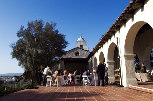 San Diego wedding catering caterers Eco Caters organic catering southern california wedding venue location wedding photographs beautiful outdoor wedding Junipero Museum San Diego are sustainable wedding Eco Caters - 59