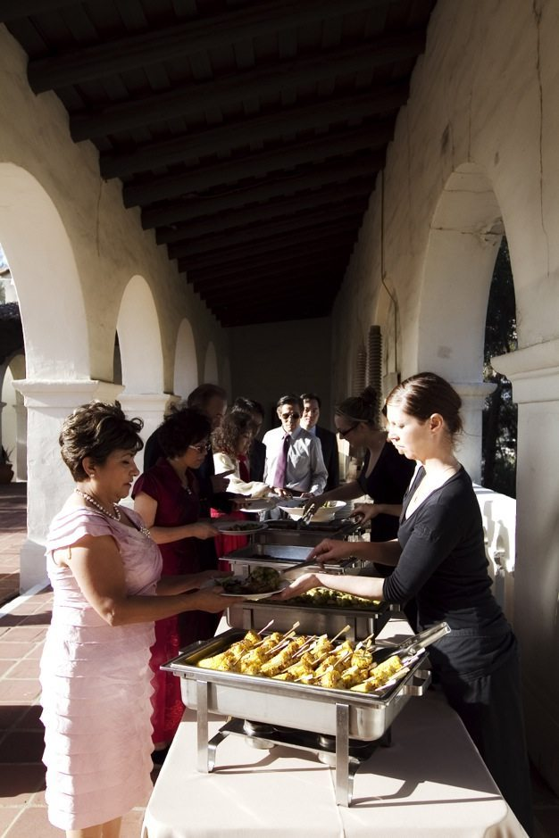 San Diego wedding catering caterers Eco Caters organic catering southern california wedding venue location wedding photographs beautiful outdoor wedding Junipero Museum San Diego are sustainable wedding Eco Caters - 67