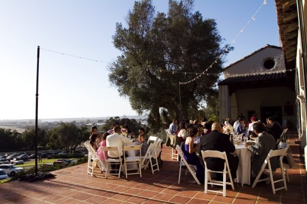 San Diego wedding catering caterers Eco Caters organic catering southern california wedding venue location wedding photographs beautiful outdoor wedding Junipero Museum San Diego are sustainable wedding Eco Caters - 75