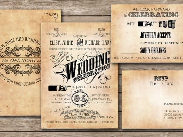 Vintage wedding invitations ideas victorian wedding invitations western theme wedding invitations cool wedding invitation ideas design - 03