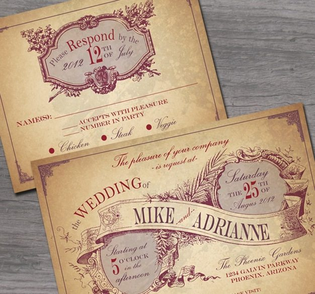 Vintage wedding invitations ideas victorian wedding invitations western theme wedding invitations cool wedding invitation ideas design - 05