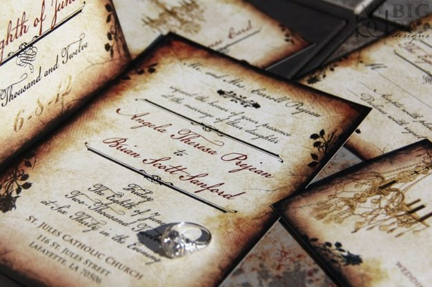Vintage wedding invitations ideas victorian wedding invitations western theme wedding invitations cool wedding invitation ideas design - 06