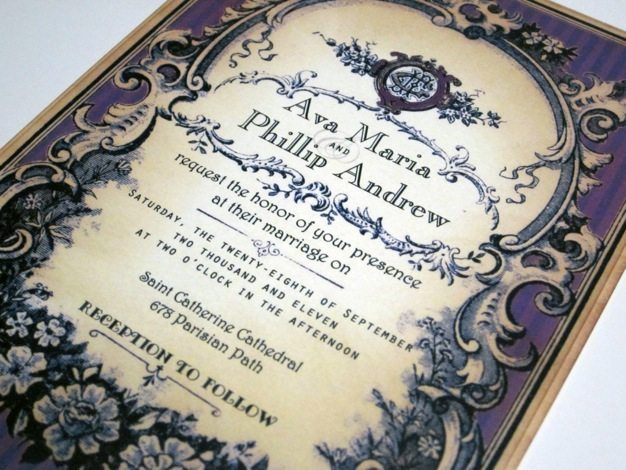 Vintage wedding invitations ideas victorian wedding invitations western theme wedding invitations cool wedding invitation ideas design - 09