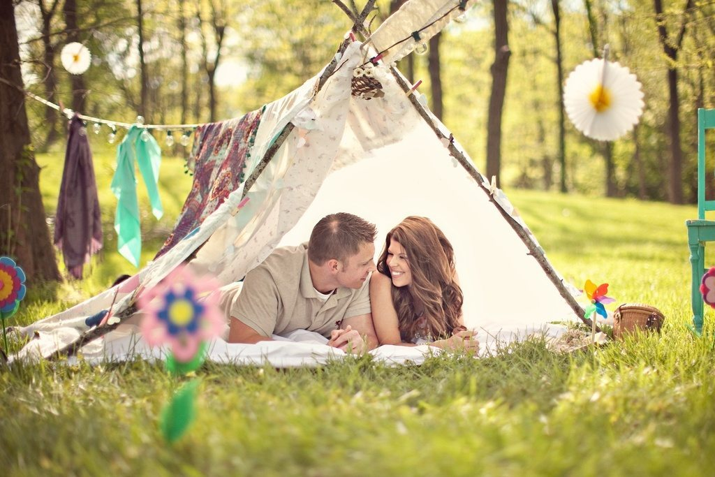 wedding-photography-unique-engagement-session-outdoors-rustic-romance-bride-groom-in-handmade-teepee.full