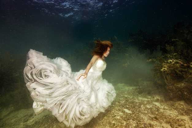 Best wedding photos under water wedding photos wedding photographer california beauitufl wedding dress - 09