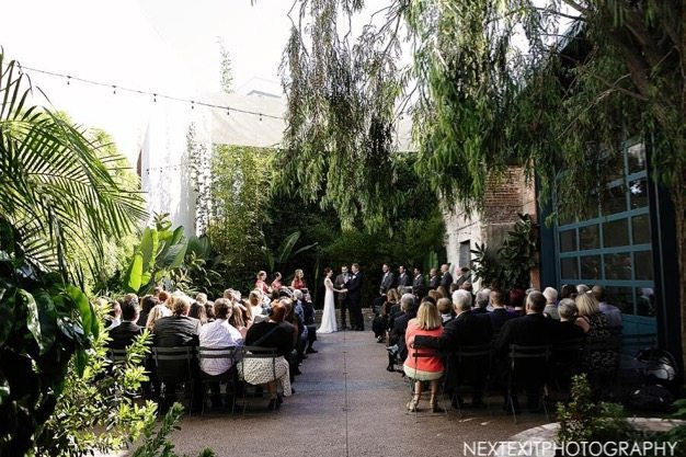 Millwick Wedding Los Angeles wedding venue eco catering best catering LA Wedding photos organic green wedding cute couple - 13 of 15