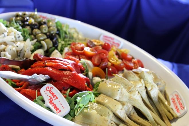 Antipasto-Platter-at-NoMaBID-Event-Karen-Reinstein-1-thegem-gallery-masonry san diego catering organic wedding catering