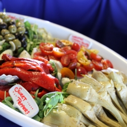 Antipasto-Platter-at-NoMaBID-Event-Karen-Reinstein-256x256 san diego catering organic wedding catering