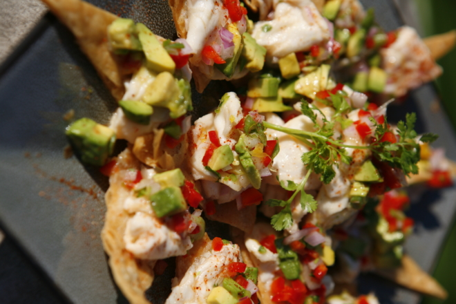 Shrimp-Avocado-on-Pita-Toasts-Close-Up-1-thegem-gallery-masonry catering san diego wedding catering