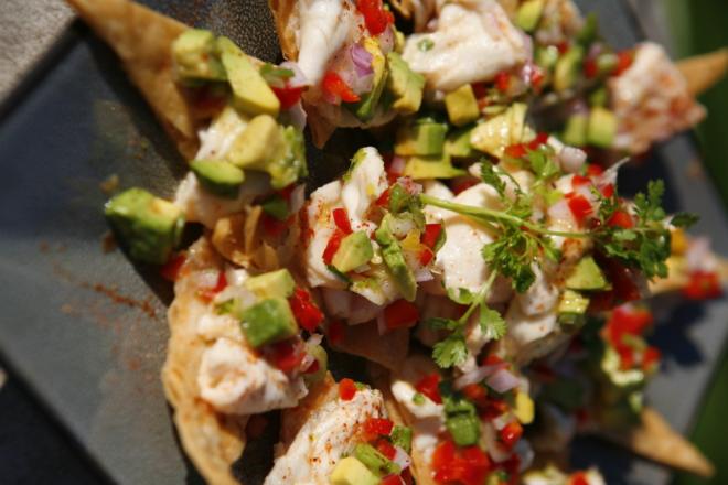 Shrimp-Avocado-on-Pita-Toasts-Close-Up-1-thegem-gallery-masonry san diego catering organic wedding catering