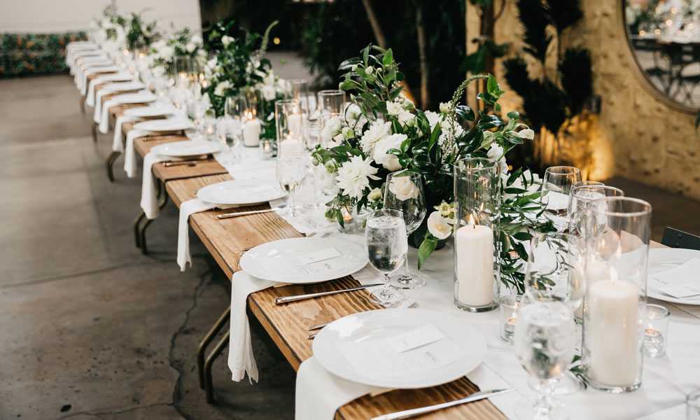 Table Setting, Eco Caters Wedding Caterers, California